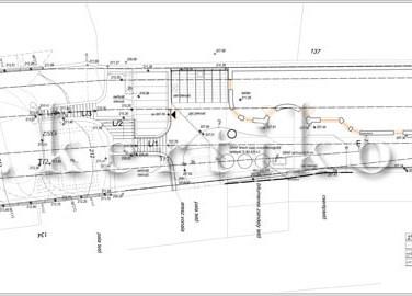 Tereprendezési terv - családi ház kert tervezés lejtős terepen