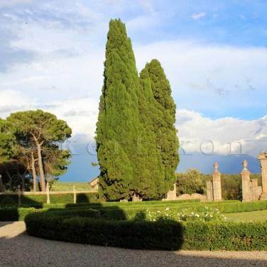 Villa di Geggiano, a barokk kert