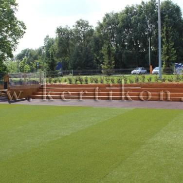 Gyermek labdatér és lelátó - óvodakert, játszótér
