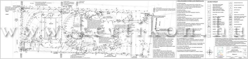 Kitűzési terv - teraszolt kert tervezése