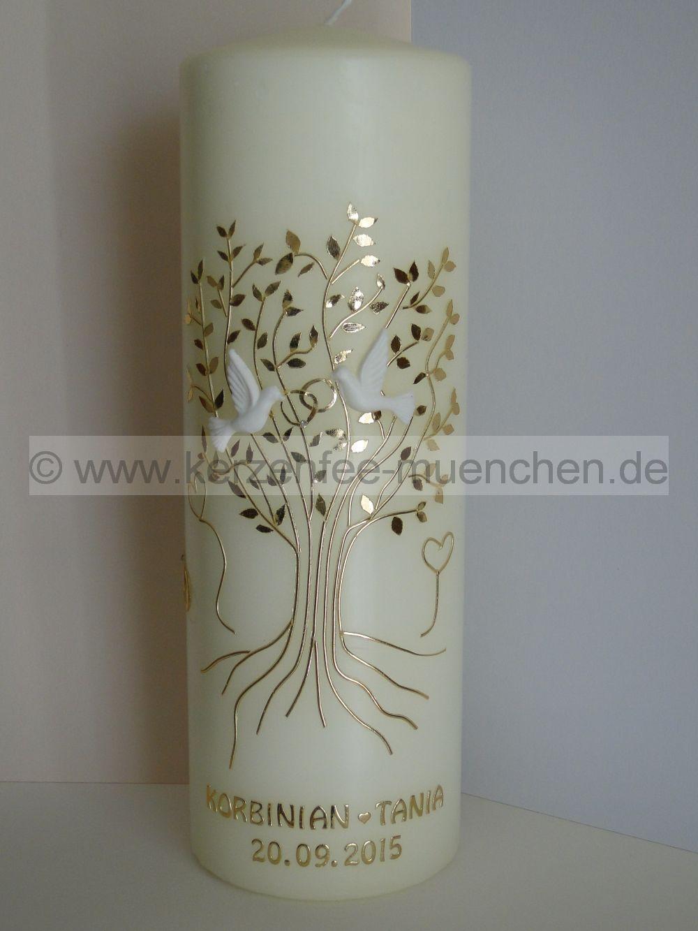 Kerzenfee Mnchen  goldener Baum