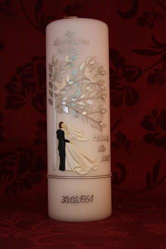 Diamantene Hochzeit Geschenk  Kerze Diamantene Hochzeit