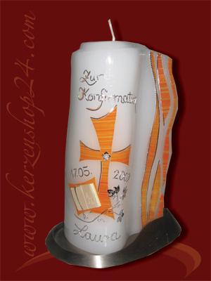 Kerzenshop24de  Konfirmationskerze J1021  online kaufen