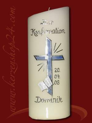 Kerzenshop24de  Kerze zur Konfirmation J1036  online