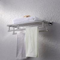 KES Stainless Steel Bath Towel Rack Bathroom Shelf with ...