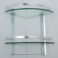 KES Bathroom 2-Tier Corner Glass Shelf with Wide Rail and ...