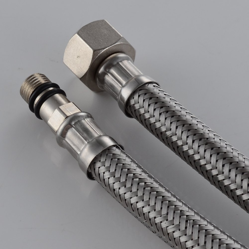kitchen tap cheap sinks black kes ius1016-p2 faucet connector, braided stainless steel ...