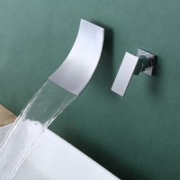 KES Wall Mount Bathroom Faucet Waterfall Lavatory Sink ...