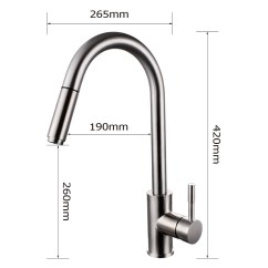 Stainless Steel Kitchen Faucet With Pull Down Spray Sale Canada Kes Out Single Handle Sus 304 Contemporary Style Hole Bar Sink Water Mixer Tap Sprayer