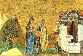 Circumcision of Christ, Menologion of Basil II, 979-984. (http://en.wikipedia.org/wiki/Feast_of_the_Circumcision_of_Christ)