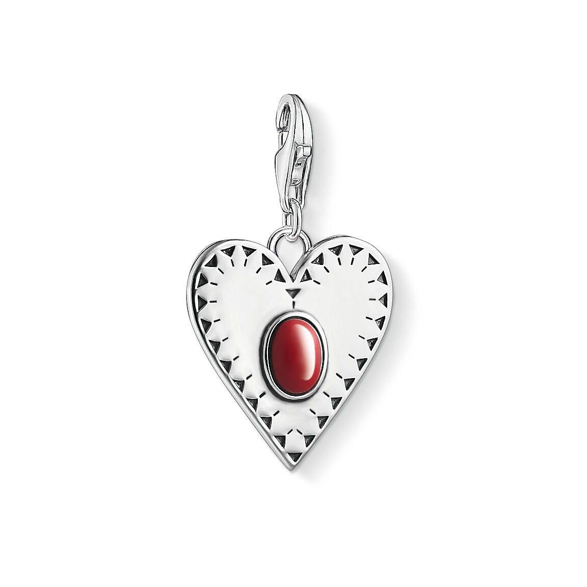 Thomas Sabo Charm Club 1683-111-10 Heart Red Stone - Keskisen Kello Oy
