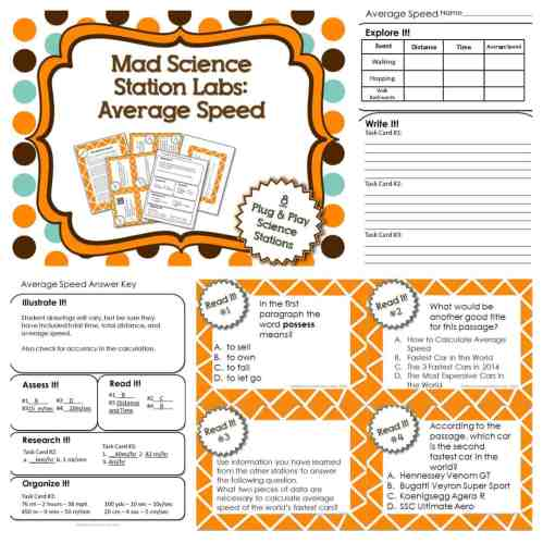 small resolution of Average Speed Station Lab - Mad Science Station Lab Series   Kesler Science