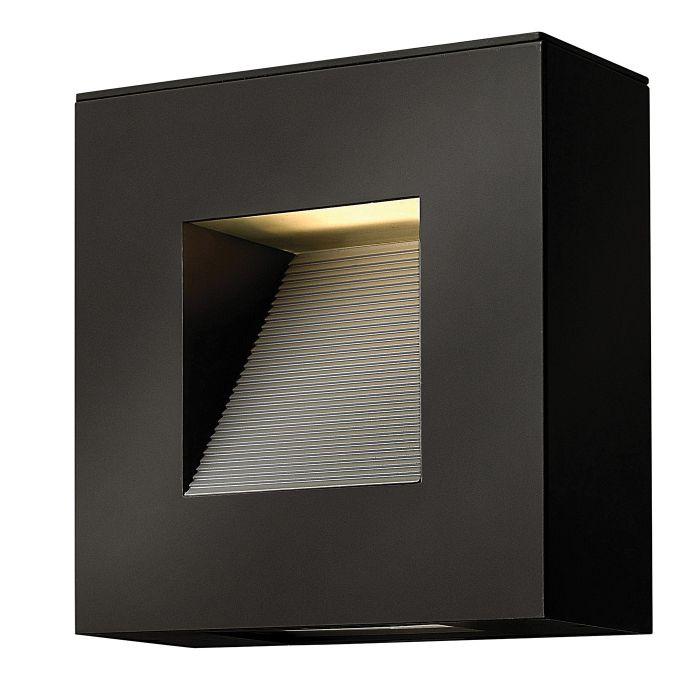 hinkley hk luna s sk luna 2lt led satin black outdoor wall light