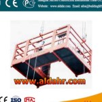 Construction ZLP rope suspended platform/gondola with wall roller