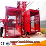 Popular In Oman Double/Single Cages Construction Site Elevator