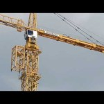 process of jumping a Liebherr 630 Ech 40 tower crane