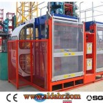 Variable Frequency High Speed CE & GOST Approved Building Hoist/Lift with Two Cages