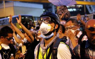 Police Clears Hong Kong Umbrella Revolution
