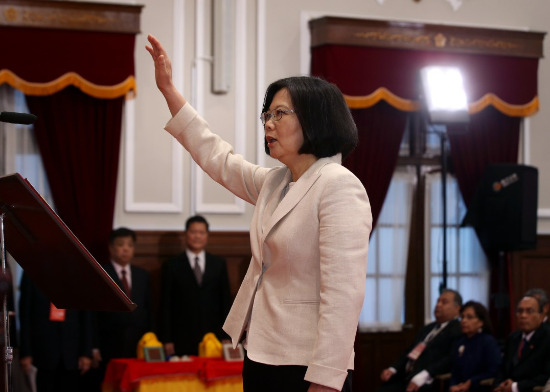 Tsai swearing in as president (Presidential Office Flickr, CC BY 2.0)