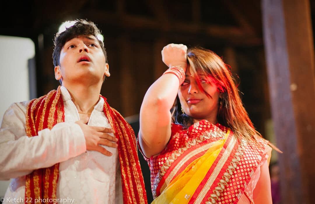 Drama scene at Indian Henna night