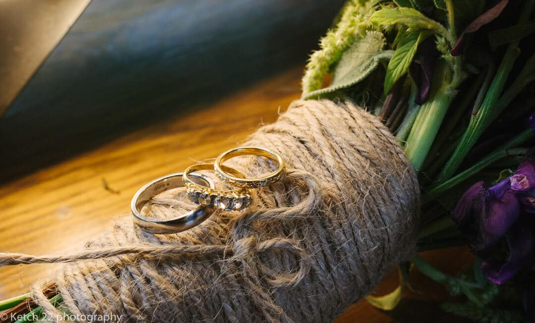 Close up photo of wedding rings