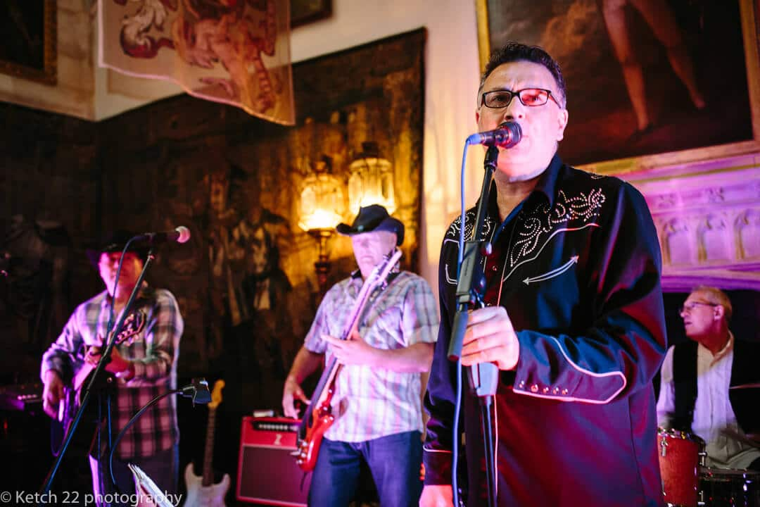 Wedding band performing at Berkeley Castle wedding