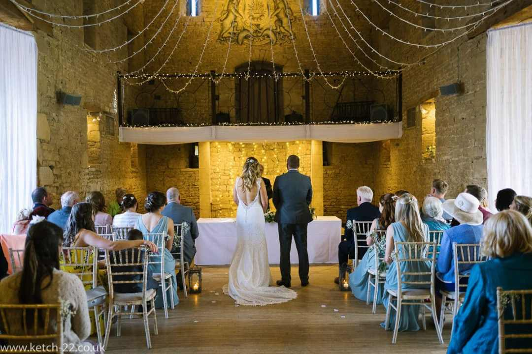 Weddings at The Great Tythe barn ceremony room