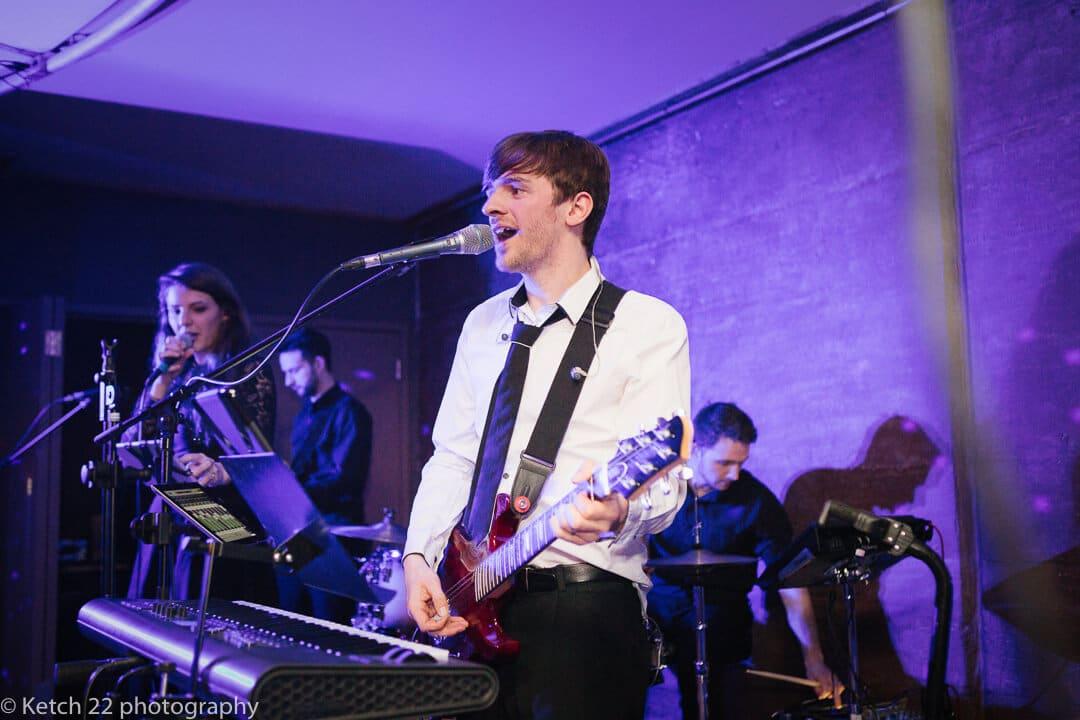 Guitar player at wedding