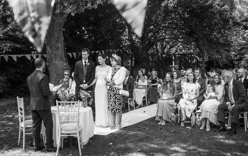 Outdoor Ceremony at The Wedding at The Swan Bibury Gloucestershire