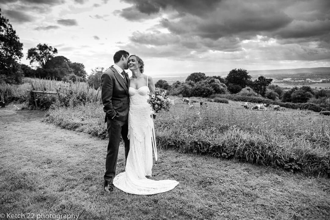 Romantic portrait of Bride and Groom at Hilles House wedding