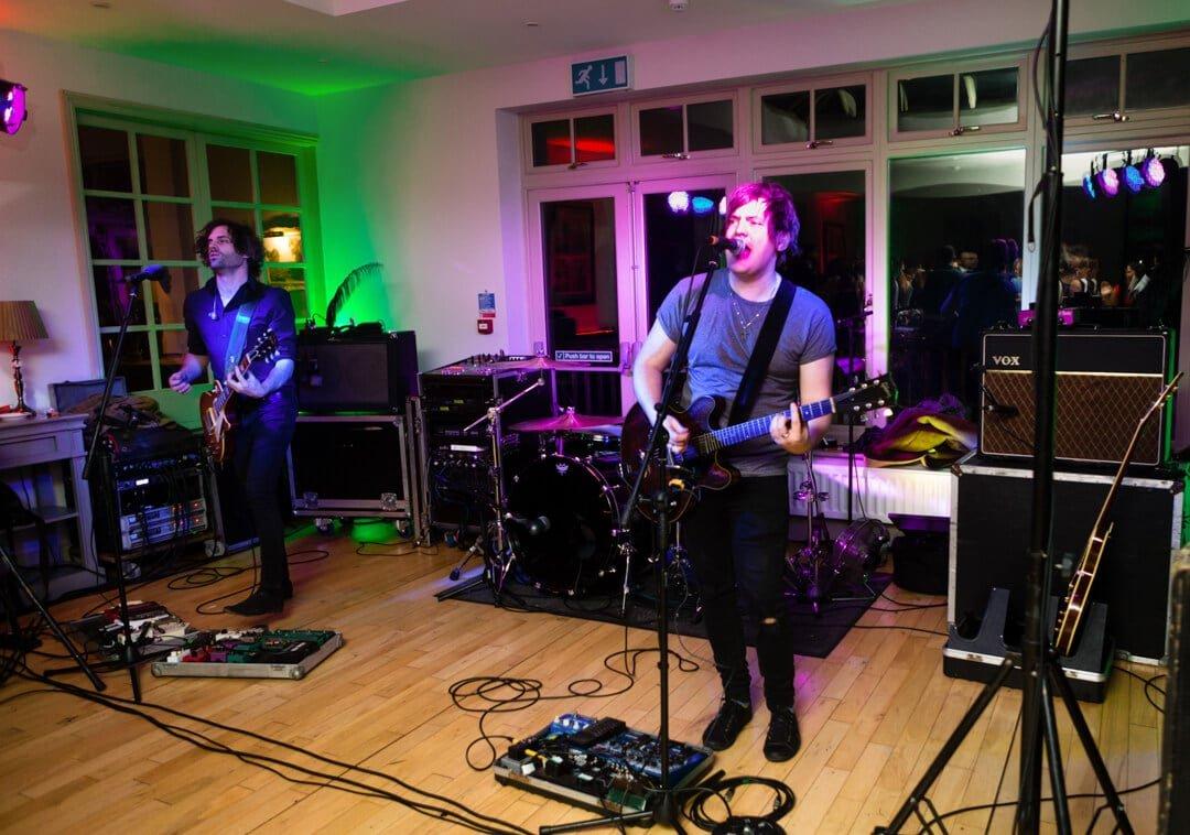 Live band performing at wedding