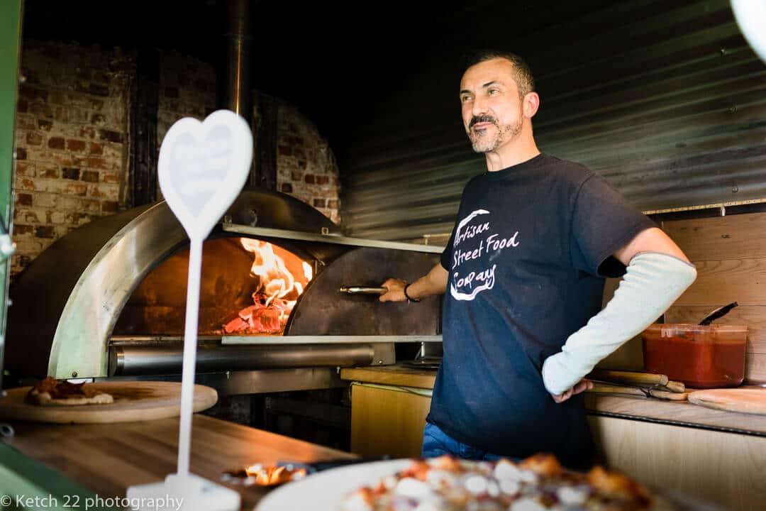 Pizza man at wedding