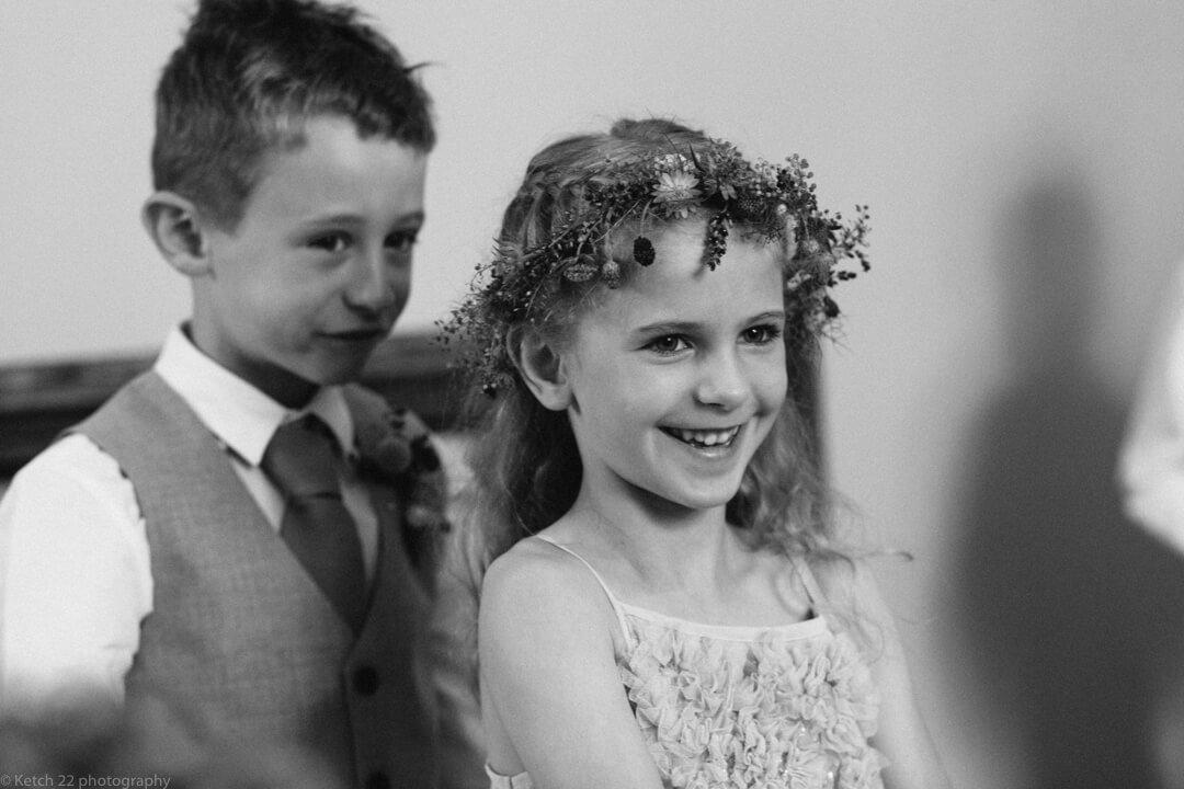 Kids laughing at Matara Centre wedding