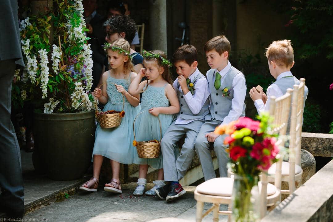 Bored kids at Matara Centre Wedding Gloucestershire