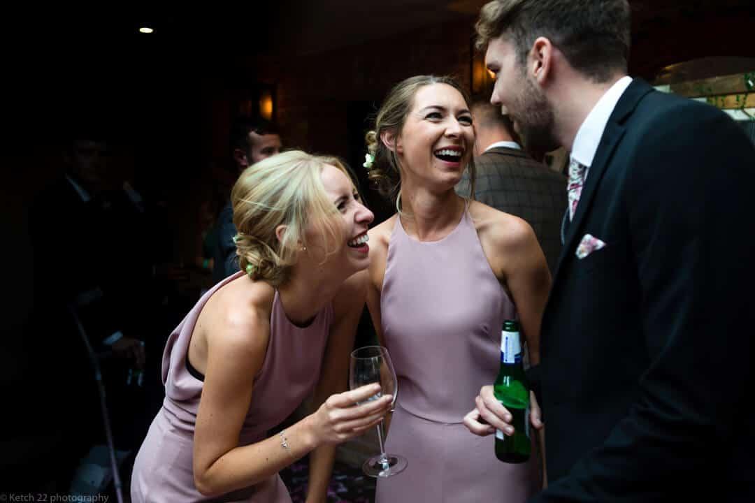 Wedding guests at Cheltenham reception