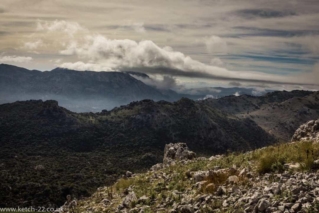 Image of Sierra de Grazalema natural park of village of Villaluenga