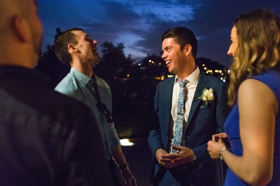 Guests chatting at Wedding in Malaga Spain