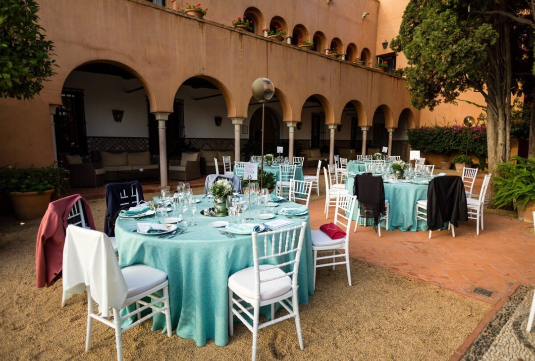 tables and chairs for wedding breakfast
