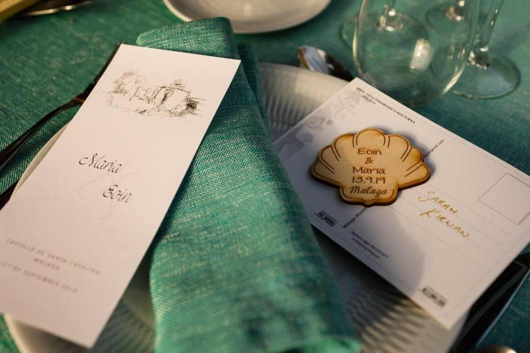Table details at Spanish Wedding