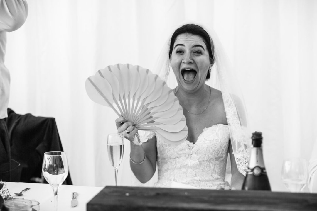 Documentary wedding photography Andalusia Spain/ Bride with fan