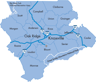 Counties of East Tennessee