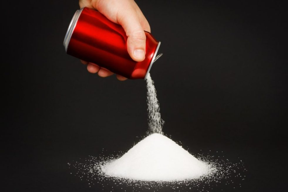 Two cans of Coke on a 2000-kcal diet gives you 14 % of your calories from sugar