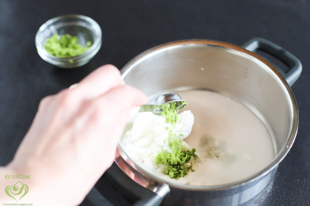 Adding lime peel   keto-vegan.com