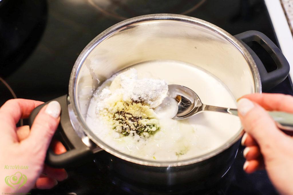 Heating and mixing | keto-vegan.com