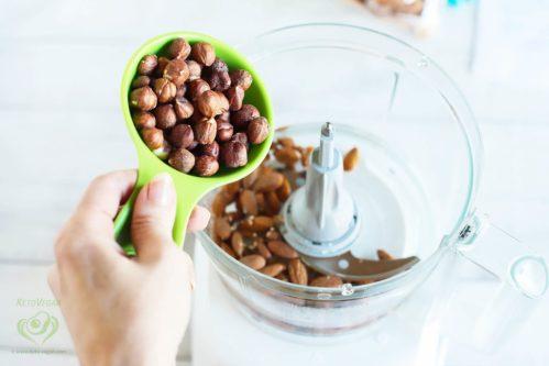 Add raw hazelnuts   keto-vegan.com