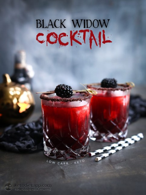 Low-Carb Black Widow Cocktail