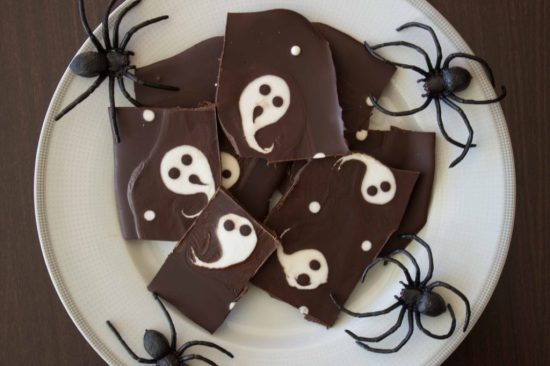 Ghostly Halloween Bark