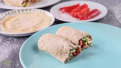 Gluten-Free Keto-Vegan Tortilla | keto-vegan.com