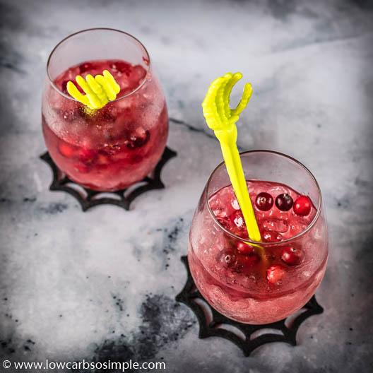 Sugar-Free Cranberry Caipirinha by Low-Carb, So Simple