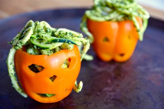 Zoodles with Pumpkin Kale Pesto